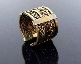 Classic filigree adjustable ring