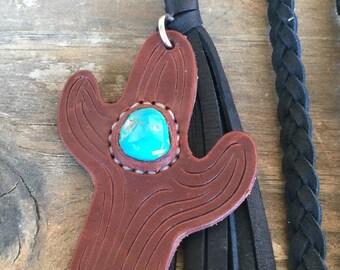Black deerskin necklace
