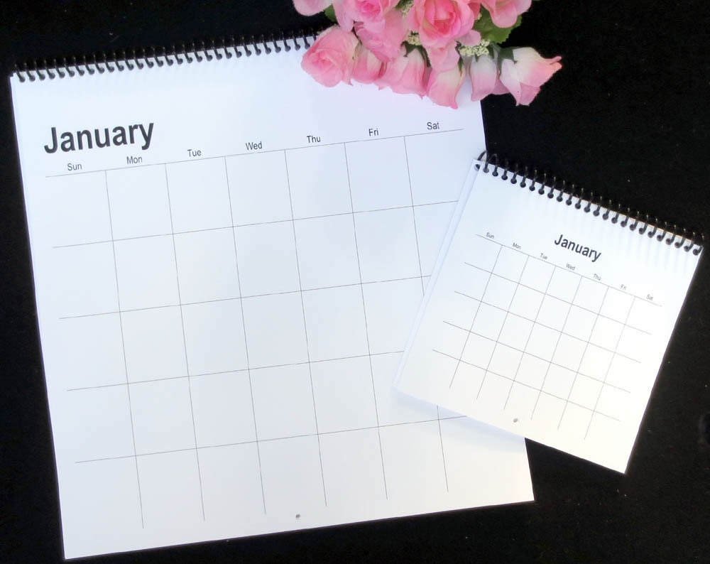 Blank Universal Calendar : Blank perpetual wall calendar free by topnotchcalendars