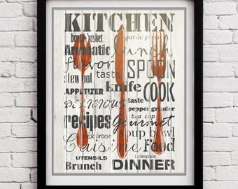 Poster für die küche  Frühstück lustig Zitat Küche Poster Küche Küche-Wand-Kunst