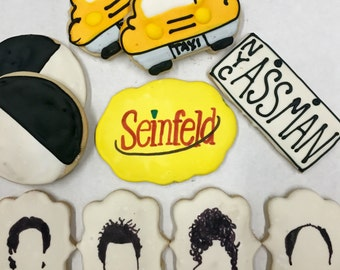 Seinfeld themed sugar cookies decoarted sugar cookies NYC cookies