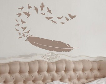 Birds of a Feather wall decal