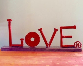 LOVE, a Valentine sculpture