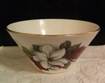 Vintage Royal Stuart (Stevenson Spencer & Co.)Bone China White/Purple Floral/Gold Rim Sugar Bowl