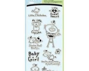 """Inkadinkado Clear Stamps """"Little Cupcake""""/baby stamps"""
