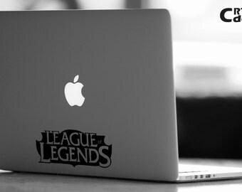 League of Legends logo  Vinyl Decal - LOL Decal - Laptop Decal - Vinyl Ipad Decal - Computer Decal - Computer Sticker - League Sticker