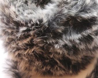 Rabbit Fur Yarn (10 meters), trimming, fur skin, skin strips