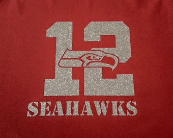 """Seahawks 12 apron- Red apron is 32""""X28"""""""