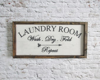 Laundry Room Sign. Wood signs. Wooden sign. Rustic signs. Farmhouse decor. Rustic decor. Laundry art. Laundry decor. Wood Wall Art.
