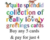 5 cards for the price of 4 - greeting cards special offer - discount coupon listing - best selling - funny cards - greetings cards - cute