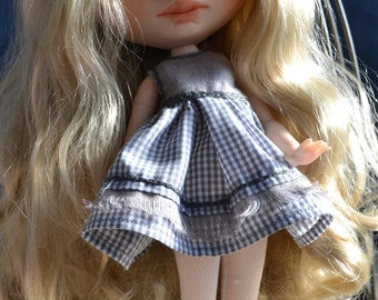 Reserved  Handmade cotton dress + jacket + cup  and boots for Blythe and Pullip outfit 2º payment of 4