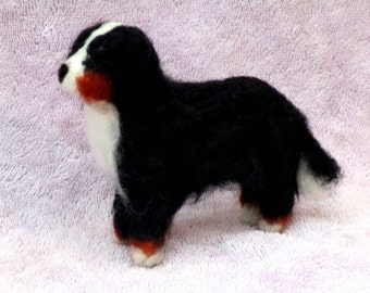 BERNESE MOUNTAIN DOG - needle felting