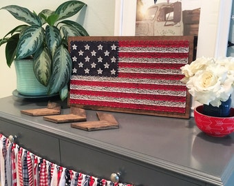 "American Flag String Art - 12""x20"" small"