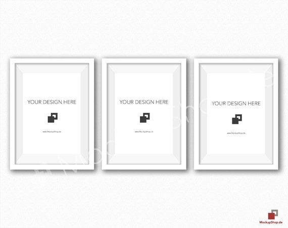 5x7 white frame mockup set of 3 white wall mockup frame mockup