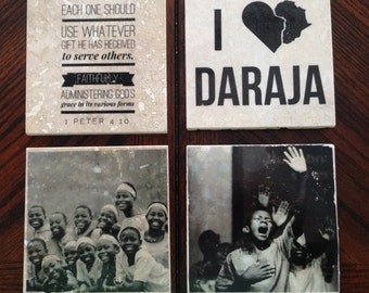 Daraja Coaster (Set of 4 Tile Coasters)