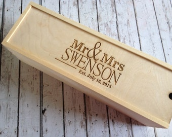 Personalized wine box, Custom Engraved wine box, personalized Wedding Gift, engraved gift, wine lover, wood wine box, wedding ceremony wine