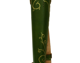 Forest Elven quiver / fantasy quiver leather
