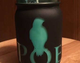 Poe soy candle