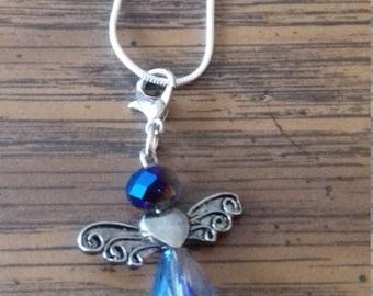 Handmade Guardian Angel Charm Necklace