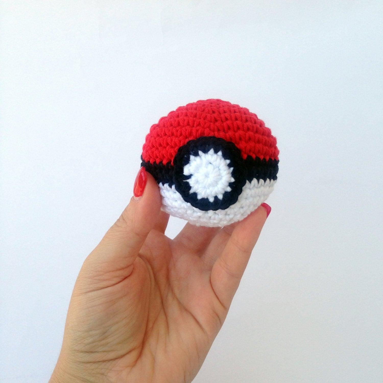 Crochet Amigurumi Small Ball : Pokeball amigurumi crochet ball soft toy