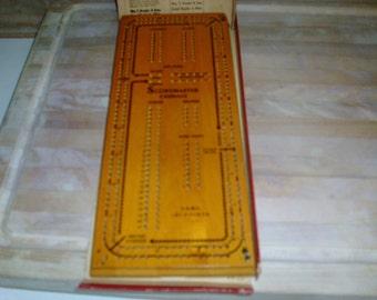 Vintage Druekes Cribbage Master Board #1150