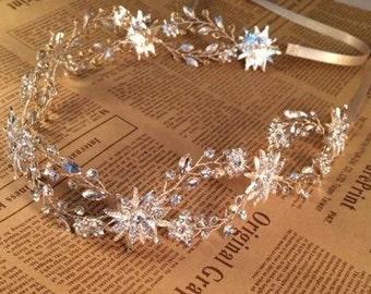 Vintage crystal tiara wedding tiara rhinstone tiara come in two colors gold and silver