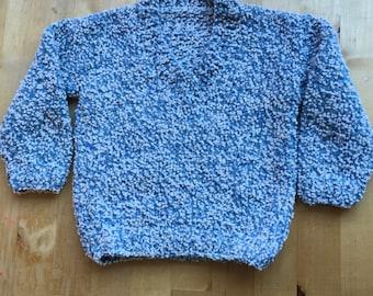 Hand knitted V neck jumper size 18