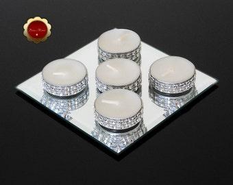 25 Silver Rhinestone Candles, Bling Tea Light Candles, Rhinestone Bling Candles, Silver Wedding Candles, Bling Candles For Weddings