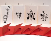 art postcards ladybugs new year black ink drawing sketch anniversary arches paper