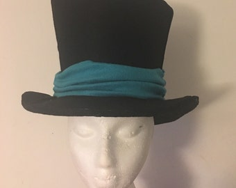 Top hat, perfect for mad hatter, artful dodger, ringmaster, steampunk and many more halloween costumes / cosplay men women