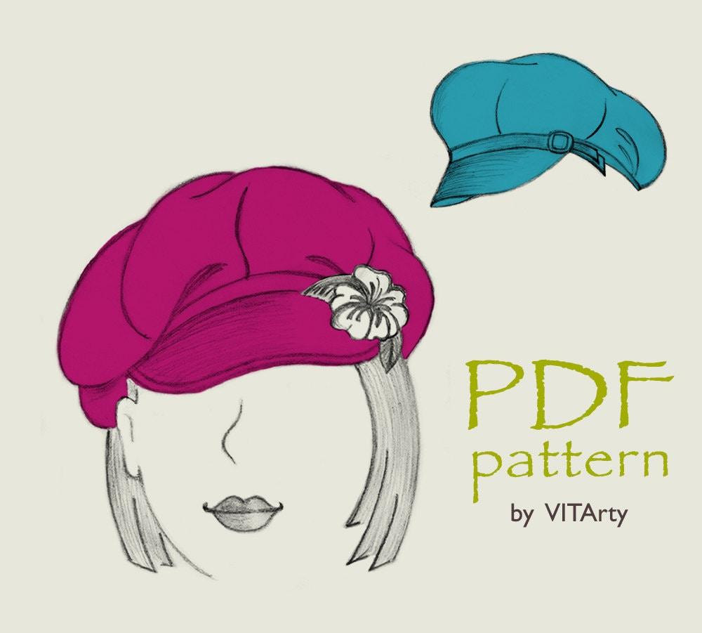 8 panels newsboy hat pdf sewing pattern s m l sizes womens this is a digital file jeuxipadfo Images