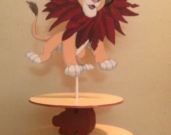 Lion King inspired cupcake stand, Simba Extra large Cupcake stand