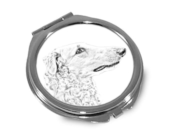 Borzoi, Russian Wolfhound - Pocket mirror with the image of a dog.