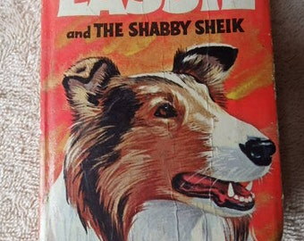 Lassie and the Shabby Sheik Hardcover book 1968 Vintage Lassie Worn Shape Big Little Book