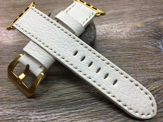 Leather Watch Strap | Apple Watch Band | Apple Watch Strap | Leather Watch Band | Pure White Colour watch band For Apple Watch 38mm & 42mm