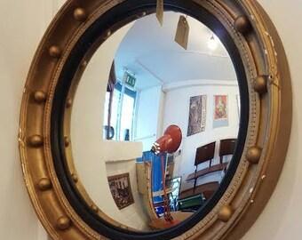 1960s Gilt Framed Convex Mirror. Vintage/Retro/Mid Century.