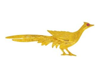 Gold Pheasant Brooch