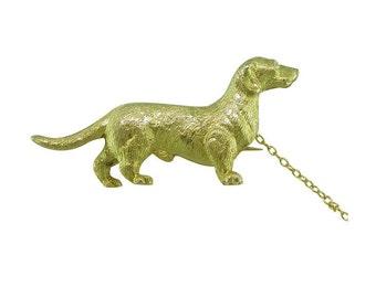 Dachshund Dog Brooch