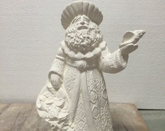 Ceramic Bisque Seashell Santa Claus Gare Ready To Paint