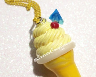 Disneyland Enchanted Tiki Room Dole Whip Float Polymer Clay Charm Pendant Necklace