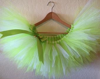 TINKER BELL Tutu, Tinkerbell Running Costume, Adult Fairy Tutu Skirt, Tinkerbell Half Marathon Tutu, Neverland 5k Tutu, Run Disney Costume