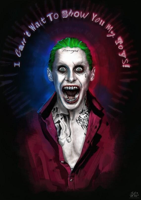 Jared leto as the joker suicide squad for Joker damaged tattoo
