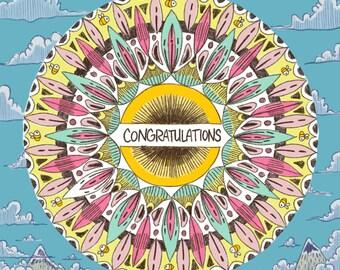 Mandala Greeting Cards x 4