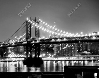 Black and White, New York City Photography, Manhattan Bridge, Fine Art Photography, NYC Pictures, East River