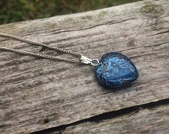 SALE || Crazy Lace Agate Heart Necklace
