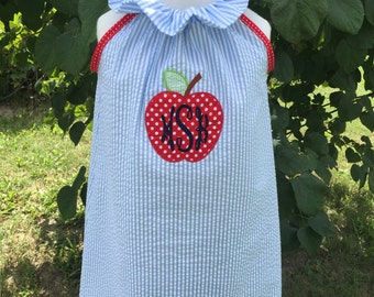 Adorable Apple monogram ruffler dress