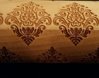 Damask Oriental Flower Rolling Pin - personalized handles