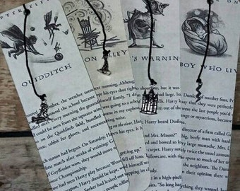 Harry Potter book page bookmark.