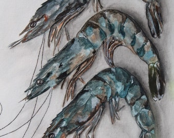 Fresh Gulf Shrimp Original Painting