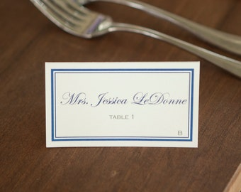 Classic, Tented Place Cards (Color) FULLY CUSTOMIZABLE!